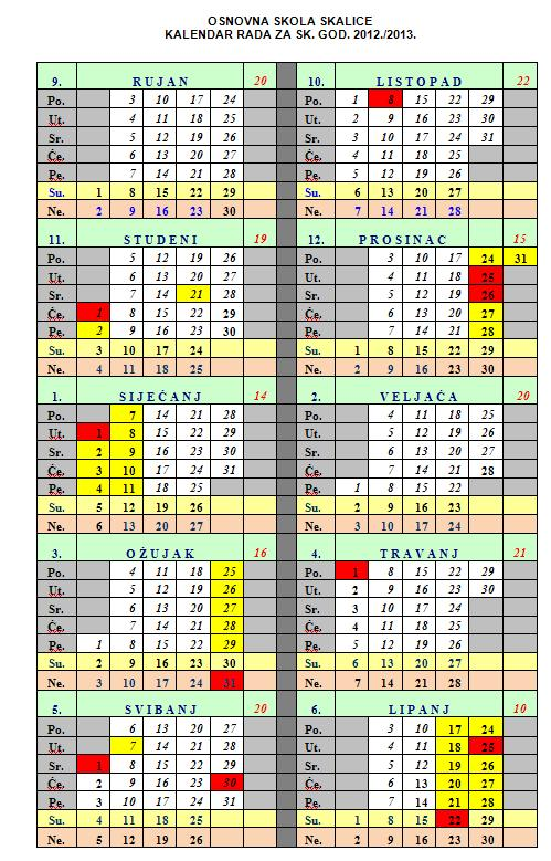 traje od 14 siječnja 2013 godine do 14 lipnja 2013 godine
